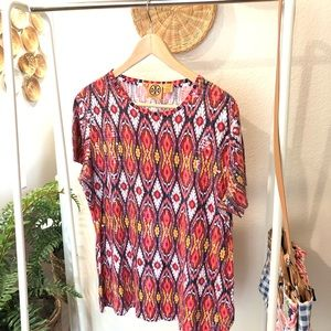 Tory Burch pattern sequin blouse Size L